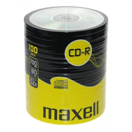 CD-R MAXELL 700 MB 52x SZPINDEL 100