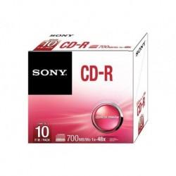 CD-R SONY 700MB 10 Slim
