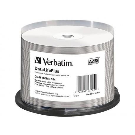 Dysk CD-R Verbatim 52x Cake 50 szt DL AZO Nadruk