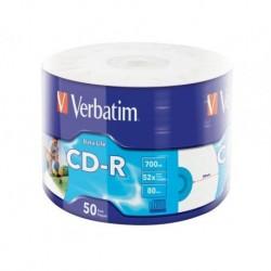 CD-R VERBATIM 700MB EXTRA PROTECTION PRINTABLE WRAP (50 SPINDEL)