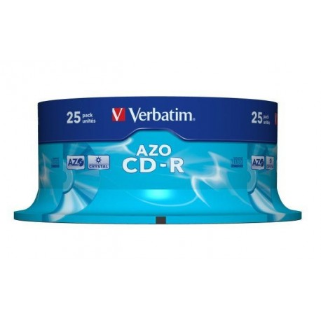 CD-R Verbatim 52x 700MB (Cake 25) CRYSTAL