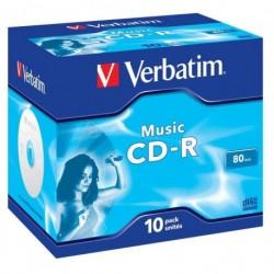CD-R Verbatim AUDIO 80min (Jewel Case 10) MUSIC LIFE PLUS