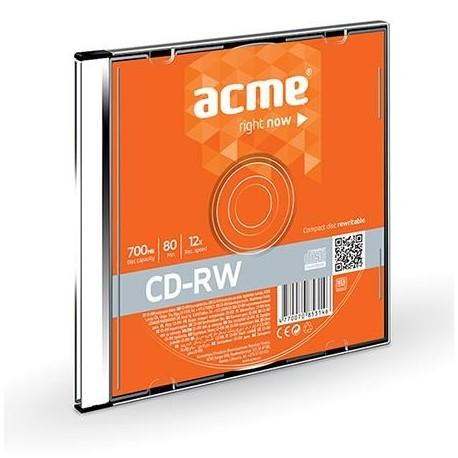 CD-RW ACME 80/700MB 12X slim box