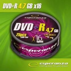 DVD+R ESPERANZA 16x 4,7GB (Cake 25)