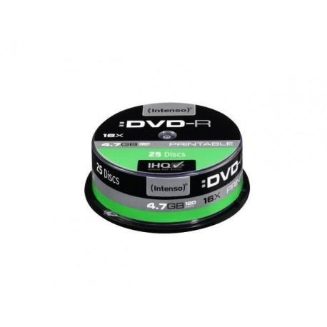DVD-R INTENSO 4.7GB X16 PRINTABLE (25 CAKE)