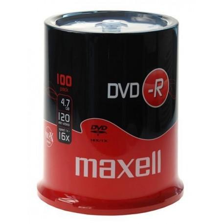DVD-R MAXELL 4,7GB 16x CAKE 100