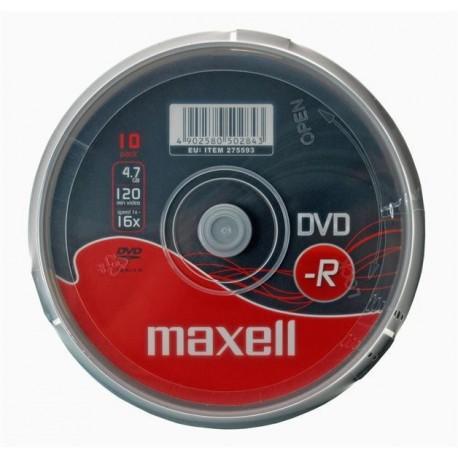 DVD-R MAXELL 4,7GB 16x CAKE 10