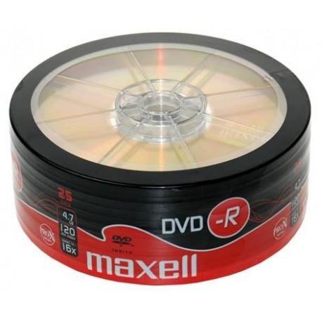 DVD-R MAXELL 4,7 GB 16x SZPINDEL 25