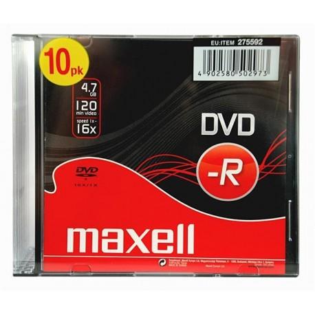 DVD-R MAXELL 4,7 GB 16x SLIM 10 PACK