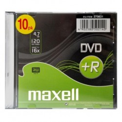 DVD+R MAXELL 4,7 GB 16x SLIM 10 PACK