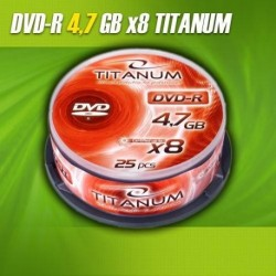 DVD-R TITANUM 8x 4,7GB (Cake 25)