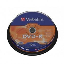 DVD-R Verbatim 16x 4.7GB (Cake 10) MATT SILVER