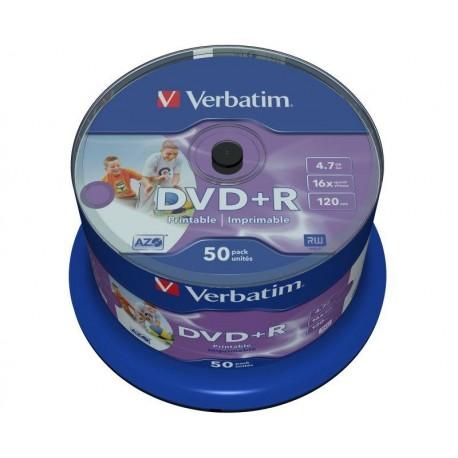 DVD+R Verbatim 16x 4.7GB (Cake 50) WIDE PRINTABLE