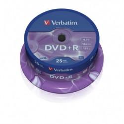 DVD+R Verbatim 16x 4.7GB (Cake 25) MATT SILVER