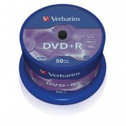 DVD+R Verbatim 16x 4.7GB (Cake 50) MATT SILVER