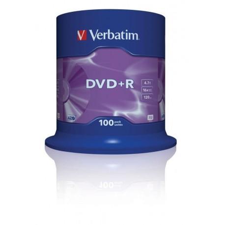 DVD+R Verbatim 16x 4.7GB (Cake 100) MATT SILVER