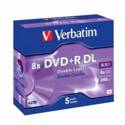 DVD+R DL Verbatim 8x 8.5GB (Jewel Case 5) MATT SILVER