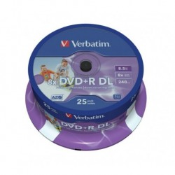 DVD+R DL Verbatim 8x 8.5GB (Cake 25) PRINTABLE