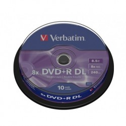 DVD+R DL Verbatim 8x 8.5GB (Cake 10) MATT SILVER