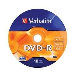 Dysk DVD-R VERBATIM 4,7 GB 16x AZO 10 szt