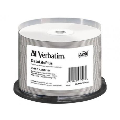 DVD-R VERBATIM 4.7GB X16 AZO DL+ printable NO ID (50 CAKE)