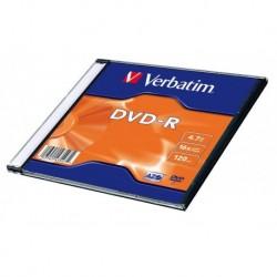 DVD-R VERBATIM 4.7GB X16 MATT SILVER (100 SLIM)