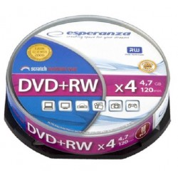 DVD+RW ESPERANZA 4x 4,7GB (Cake 10)