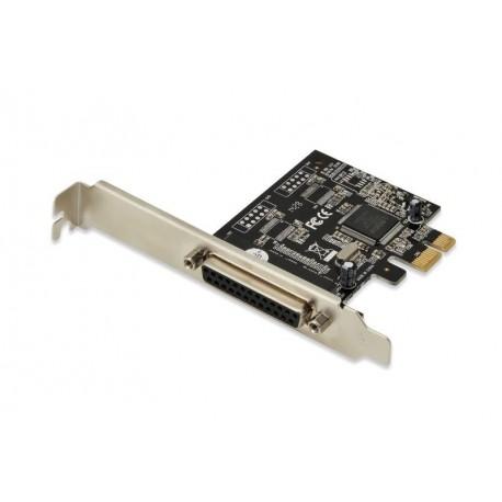 Kontroler LPT DIGITUS PCI Express, 1xDB25, Low Profile, Chipset: MCS9901