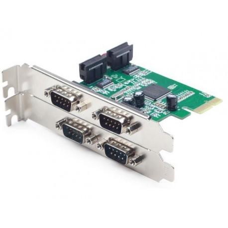 KARTA PCI EXPRESS- COM 9PIN X4 GEMBIRD (COM, RS-232)