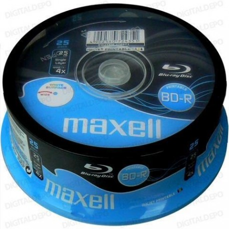 BD-R MAXELL 25 GB PRINTABLE CAKE 25