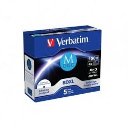 M-DISC BD-R VERBATIM 100GB X4 PRINTABLE (5 JEWEL CASE)