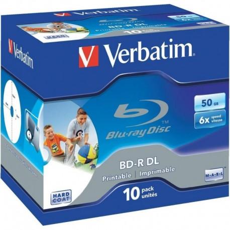 BD-R DL Verbatim 6x 50GB (Jewel Case 10) Blu-Ray Printable