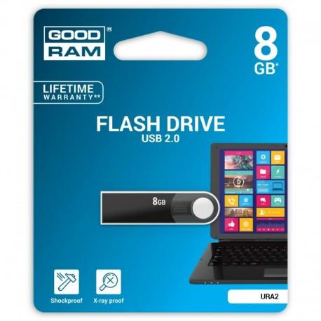Pendrive GOODRAM 8GB URA2 Black USB 2.0