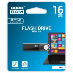 Pendrive GOODRAM 16GB URA2 Black USB 2.0