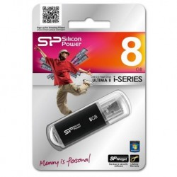 Pendrive Silicon Power ULTIMA II-I SERIES 8GB U2.0 Black Alu
