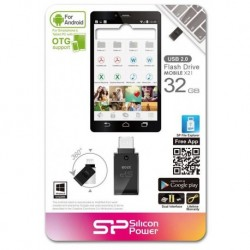 Pendrive Silicon Power 32GB OTG+USB2 Mobile X21 mUSB to USB
