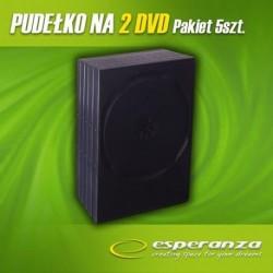 Pudełko Esperanza na 2 DVD - 14mm - Czarne - Pakiet 5 szt.