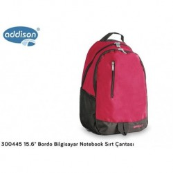 "Plecak do notebooka laptop ADDISON Addison 300445 15.6"" Plecak Bordo"