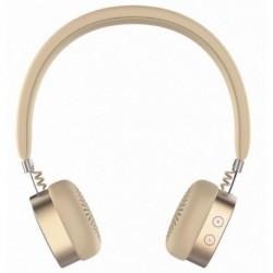 Słuchawki z mikrofonem Manta HDP9001 Bluetooth złote AMBER