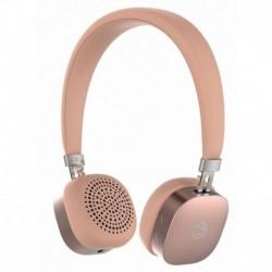 Słuchawki z mikrofonem Manta HDP9002 Bluetooth różowe złoto RUBY