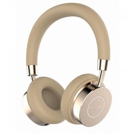 Słuchawki z mikrofonem Manta HDP9007 Bluetooth złote AMBER