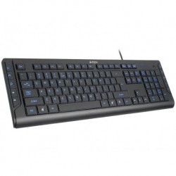 Klawiatura przewodowa A4Tech KD-600L USB Blue Light czarna