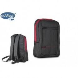 "Plecak do notebooka laptop ADDISON 300446 15.6"" Black Wodoodporny"