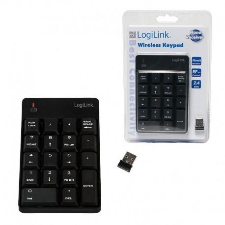 Klawiatura bezprzewodowa LogiLink ID0120 18 klawiszy czarna