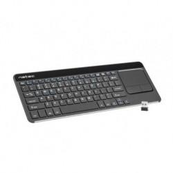 Klawiatura bezprzewodowa Natec Turbot do Smart TV, Slim, 2.4GHz, TouchPad, X-Scissors
