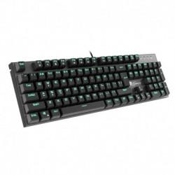 Klawiatura przewodowa Genesis Thor 300 Gaming zielone podświetlenie czarna
