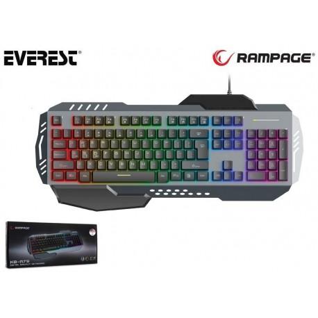 Klawiatura przewodowa RAMPAGE KB-R79 Rainbow LED Metal