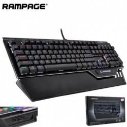 Klawiatura przewodowa RAMPAGE KB-RX92 COMMANDER RGB Outemu Blue HUB