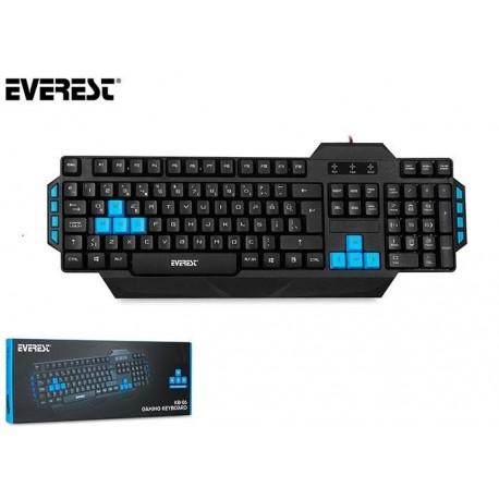 Klawiatura przewodowa EVEREST KB-06 Gaming czarno-niebieska