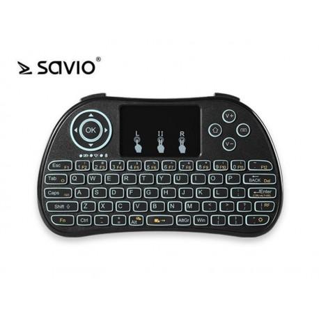 Klawiatura bezprzewodowa SAVIO KW-01 do TV Box, Smart TV, PS3, XBOX360, PC